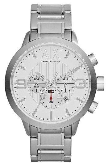 //AX Armani Exchange Round Chronograph Bracelet Watch