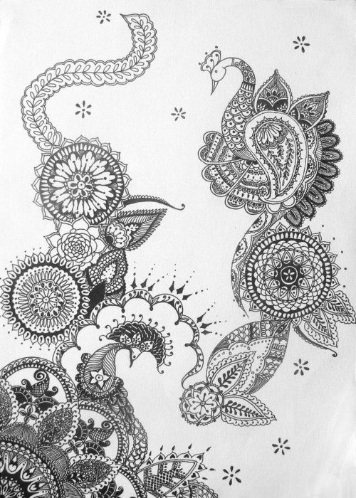 I want to take pieces of this to frame down the left side of the sleeve from the sunflower down to the mandala