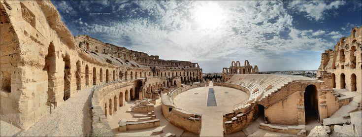 Амфитеатр в Эль-Джеме, Тунис, Африка