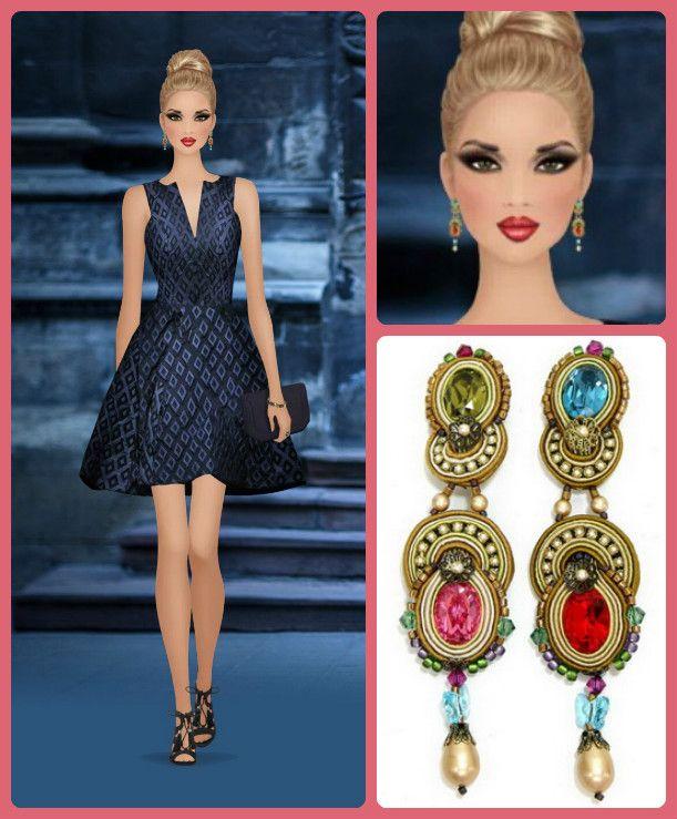Fashion's precious moments? Jewel tones accessories...as seen on Covet Fashion  #DoriCsengeri #CovetFashion #jeweltones #gemcolors #styling #fashion #fashionaccessories