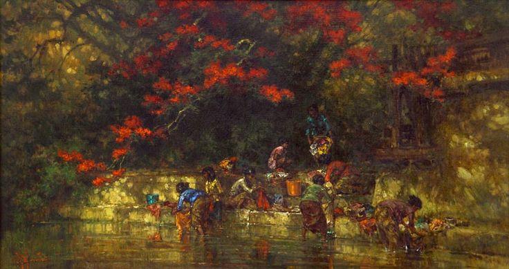 R. Hadi - Mencuci Di Sungai
