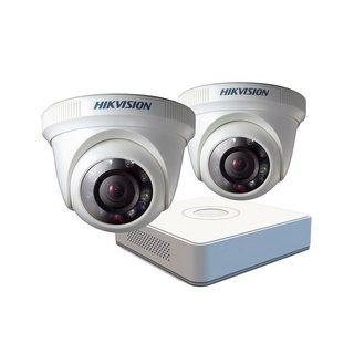 Kit 2 Cámaras de Seguridad Hikvision y DVR grabación video - USS Store