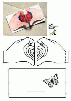Kalp Kalıbı. Heart printables. Molde del corazón. сердце.