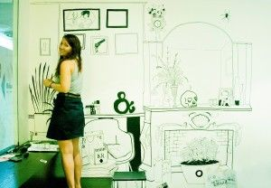 Freehand drawing on the walls!