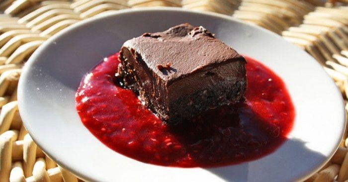 Brownies crus décadents
