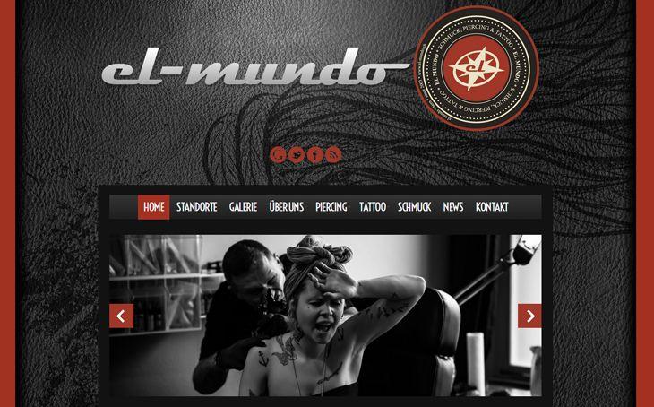 Wordpress Webdesign für das professionellste Tattoo Studio El-Mundo in Bern. Individualisiert mit Installationen für Sicherheit und SEO.