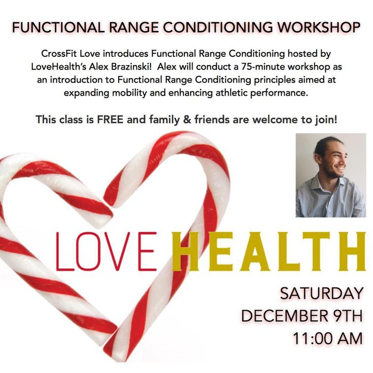 Members family & friends: Join us Sat. 12/9 at 11AM as @alexbrazinski hosts a free Functional Range Conditioning Workshop.  Why take this class? Because you can expect to enhance athletic performance and decrease the likelihood of injury by increasing range of motion strengthening new ranges of motion creating proper joint functioning enhancing muscle contractions and learning proper breathing techniques. The class is free and open to the public so bring some friends! More information…