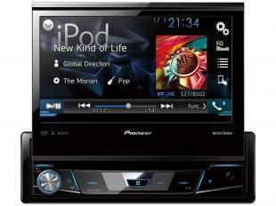 A Pioneer traz ao mercado o AVH-X7780TV, o novo DVD player 1-din com tela de 7 polegadas e TV digital integrada. Aproveite suas músicas e vídeos favoritos na tela retrátil e com ajuste de ângulo de 7 polegadas do novo AVH-X7780TV. Com ele, você pode conectar seu iPhone ou smartphone com Android compatíveis usando apenas um cabo USB, o que te permitirá controlar aplicativos compatíveis direto pela tela do seu Pioneer