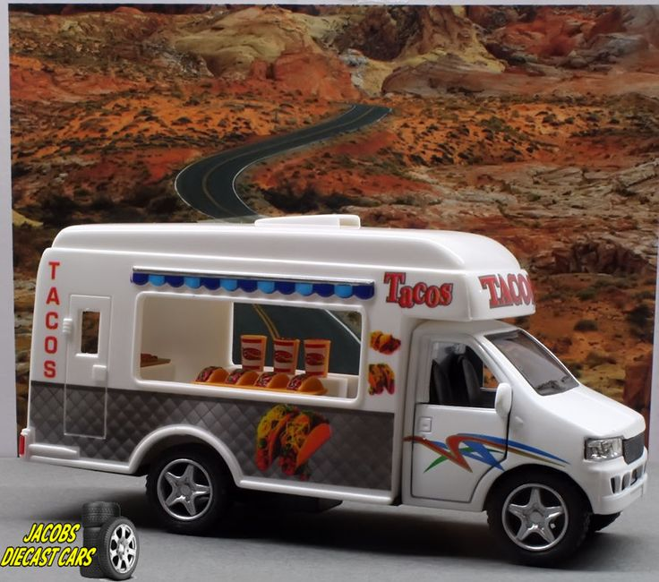 1:32 KINSFUN TACO Delivery Truck - Great for Diorama use and display #Kinsmart #TacoTruck