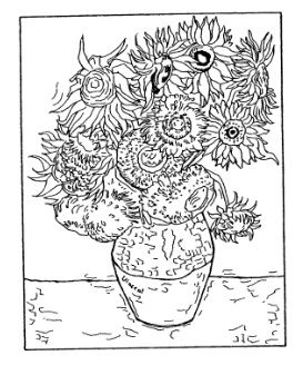 van gogh rubber stamps | Frantic Stamper Cling-Mounted Rubber Stamp - Van Gogh Sunflowers