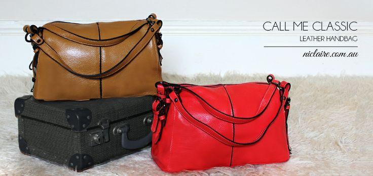 Shop now at www.niclaire.com.au #handbag #ladieshandbag #leatherhandbag