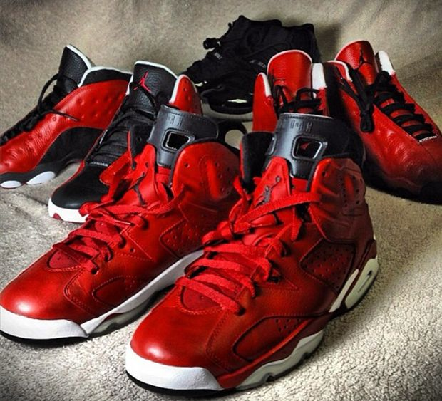 Nate Robinson's Collection of Air Jordan Customs by Mache