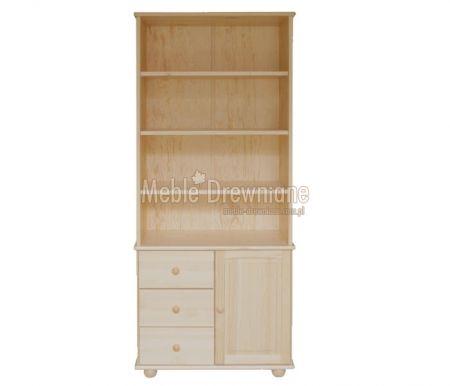Biblioteczka drewniana sosnowa [42] Meble Drewniane - meble sosnowe producent, łóżka, komody, witryny