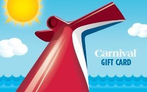 $100 Carnival Cruise Lines Gift Card and get a bonus $20! ($120 Value)