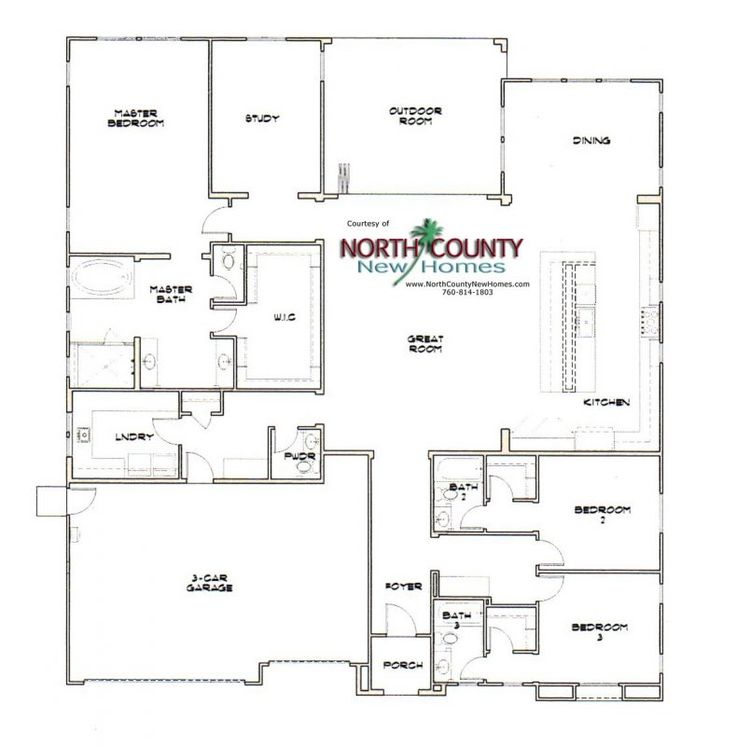 372 best new home floor plans in north county san diego for Single family home floor plans