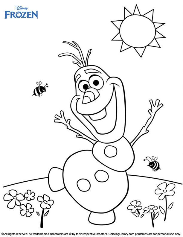 Frozen Coloring Page Olaf The Friendliest Snowman Frozen Coloring Pages Summer Coloring Pages Frozen Coloring