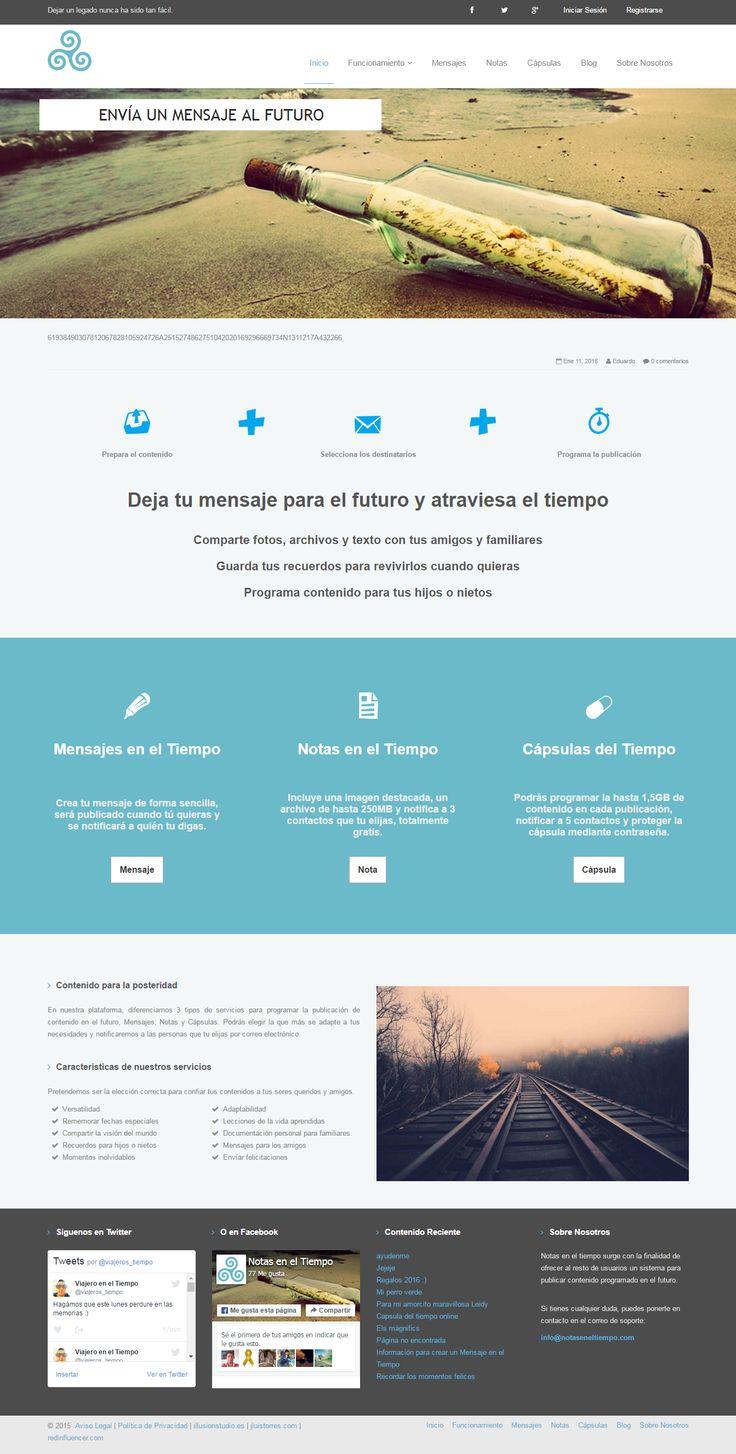 Proyecto web para Notas en el Tiempo. Una página web desarrollada en Drupal de publicación de contenido programado y con notificaciones automáticas por correo electrónico.