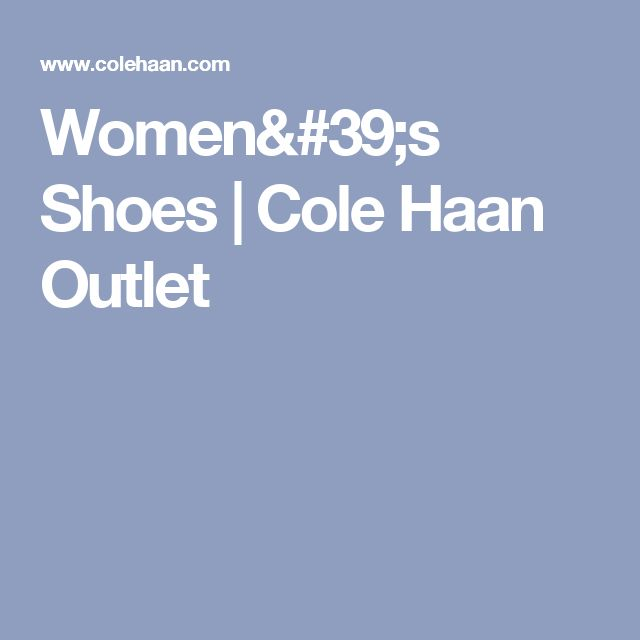 Women's Shoes | Cole Haan Outlet