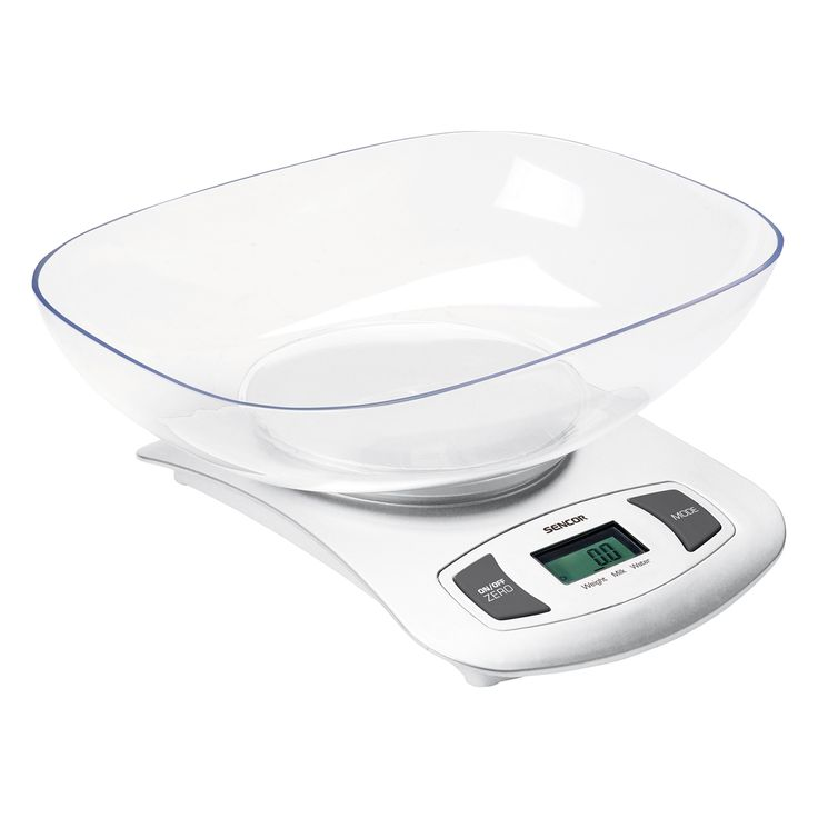 Sencor Kitchen Scale SKS 4001WH - Large LCD display - Large buttons for comfortable control - Automatic idle shut-off