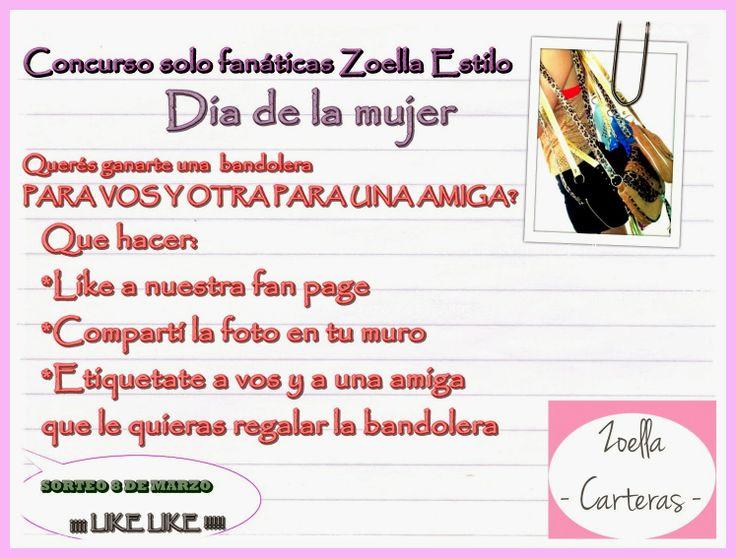 """Carteras Zoella: Concurso """"dia de la mujer"""""""