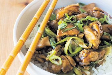 Taiwanese three cup chicken and smashed cucumber salad