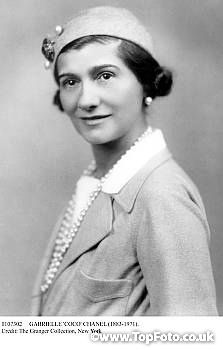 GABRIELLE 'COCO' CHANEL (1883-1971). French fashion designer. Photograph, early 20th century.