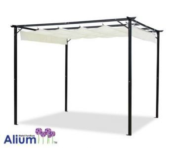 Alium™ Delray Canopy Frame and Cover - 3.1m x 3.5m