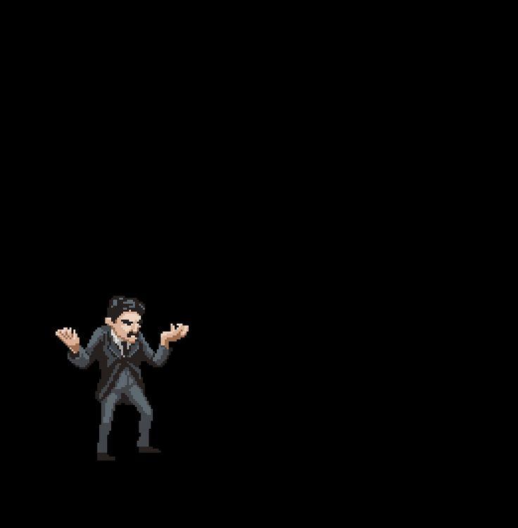A pixel art e animação de Diego Sanches par o jogo Science Kombat