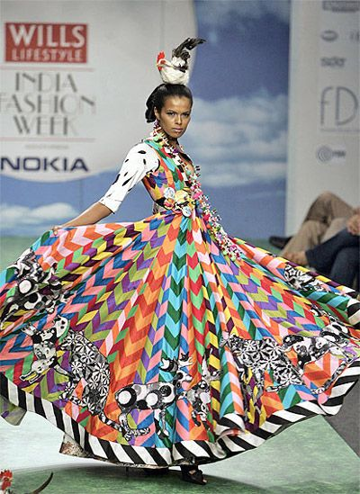 Colourful ethnic dress by Manish Arora