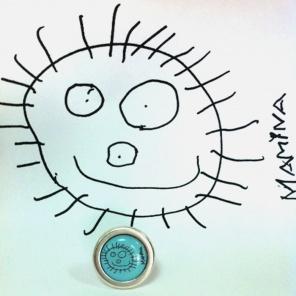 Anillo redondo ¿Cómo pasamos el dibujo de tu hijo a una joya?