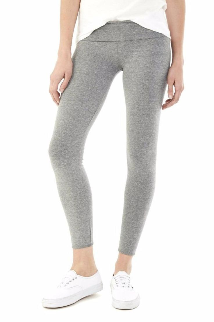 Made from our versatile Eco Lycra Jersey, the Groundwork Legging is ideal for your workout needs. Clean finished hem with no side seams.   Groundwork Legging Grey by Alternative Apparel. Clothing - Bottoms - Pants & Leggings - Leggings New Jersey