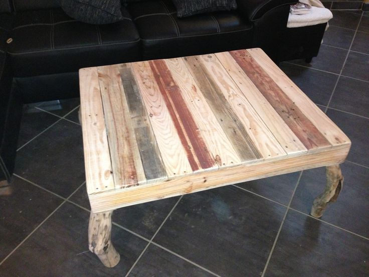 Pallets coffee table / Table basse #Coffee-Table, #Pallets
