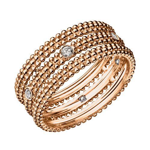 La bague Le Premier Jour en or rose et diamants de Mauboussin