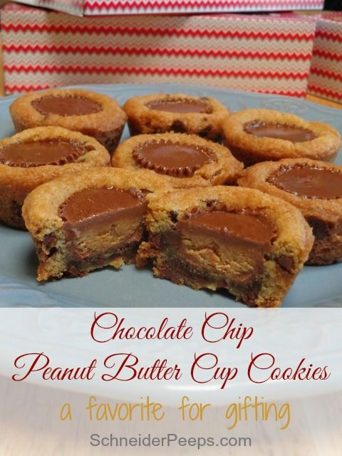 SchneiderPeeps - Chocolate Chip Peanut Butter Cup Cookies . These cookies are super easy and make an impressive gift.