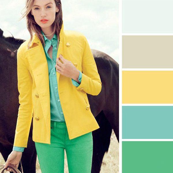 Палитры сочетаний цветов в одежде — шпаргалка для модниц