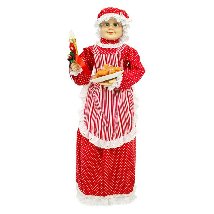 Puleo International 28 in. Animated Musical Mrs. Santa Figurine - 243-FAN6062LM-K