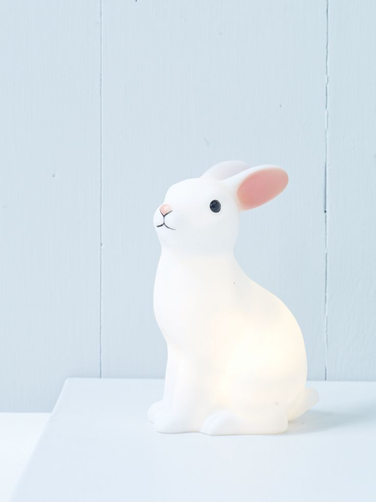 Rabbit Night Light - My goddaughter comes to stay regularly and this cute rabbit night light would be a great Easter gift for her next visit :)