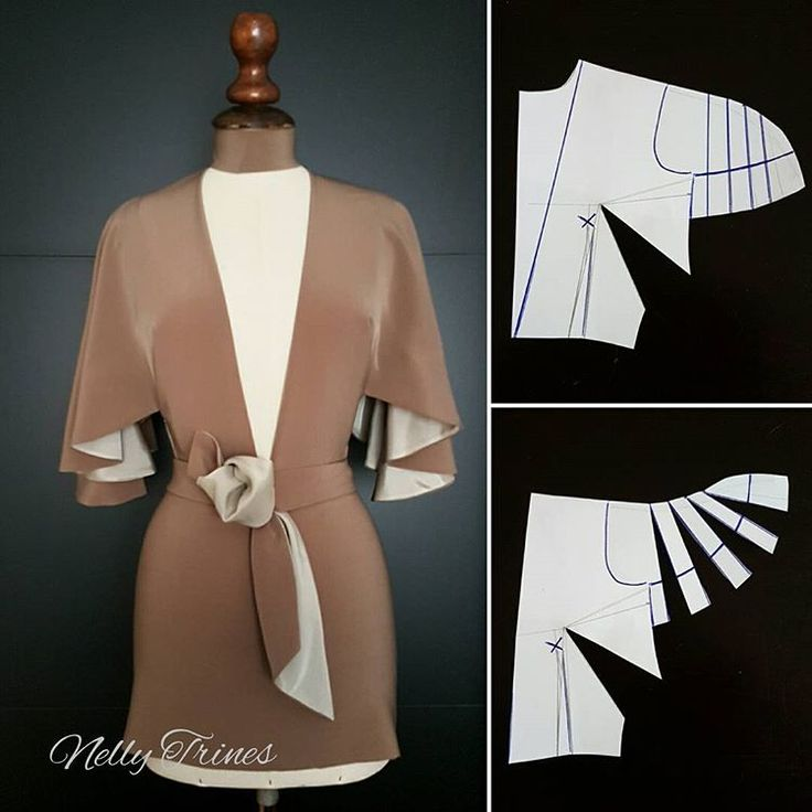 Reversible wrap jacket with flutter sleeves