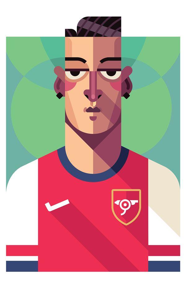 Football Players by Daniel Nyari, via Behance