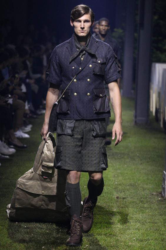 """Not a mini skirt but is a good looking longer """"Cargo Skirt""""."""