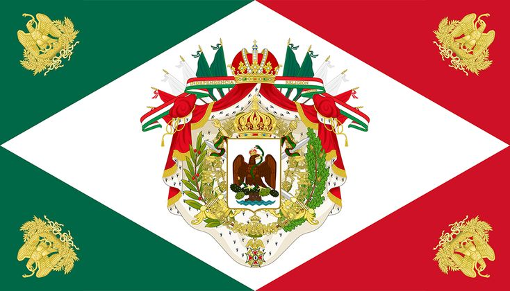 Flag of the Mexican Empire by IEPH.deviantart.com on @DeviantArt