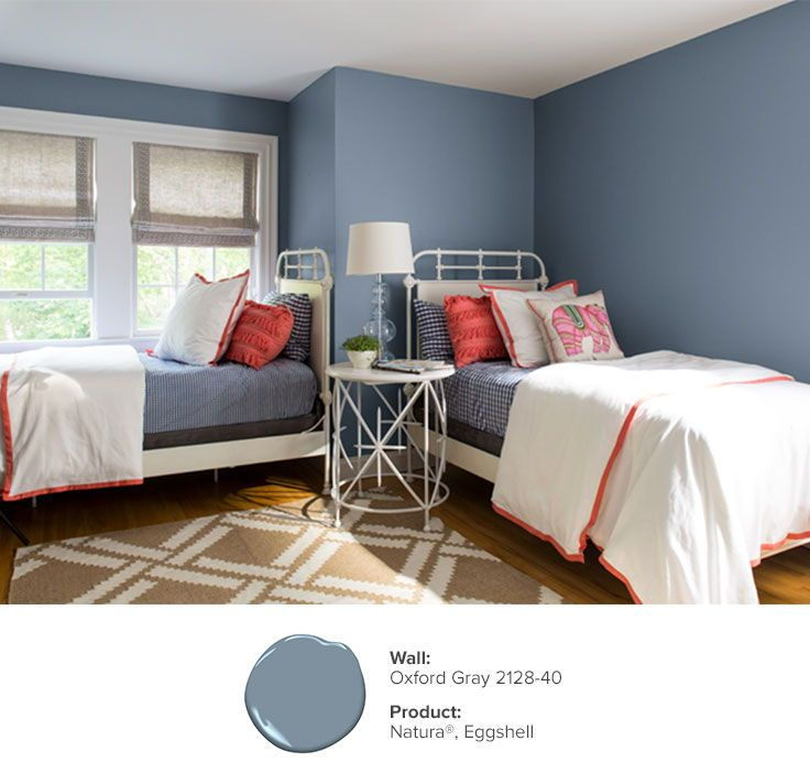 Bedroom Color Ideas Inspiration Benjamin Moore Grey Bedroom With Pop Of Color Bedroom Colors Bedroom Paint Colors