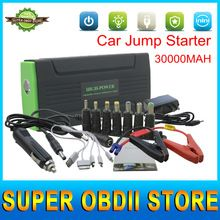 High Quality and Best Price Car Portable Jump Starter 30000mAh Start 12V Emergency Battery Works for Multi-Function Power Bank(China (Mainland))