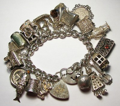 Old English Charm Bracelet Sterling Silver Charm