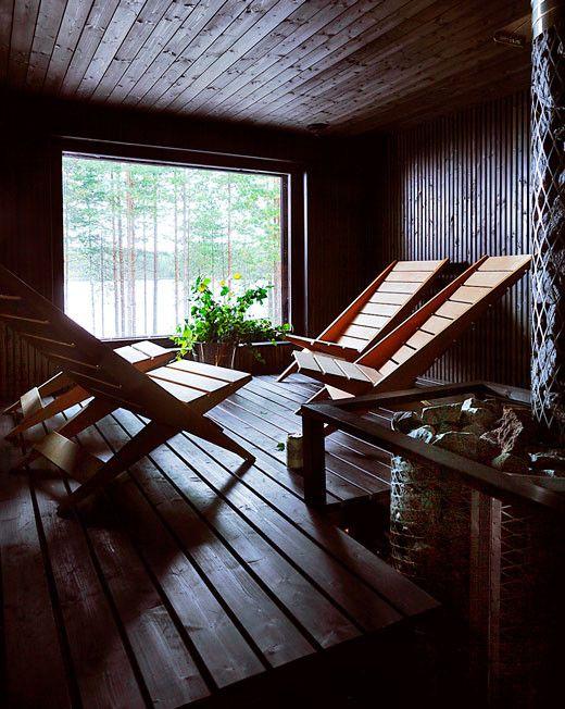 Saimi Hoyerin mökin sauna.