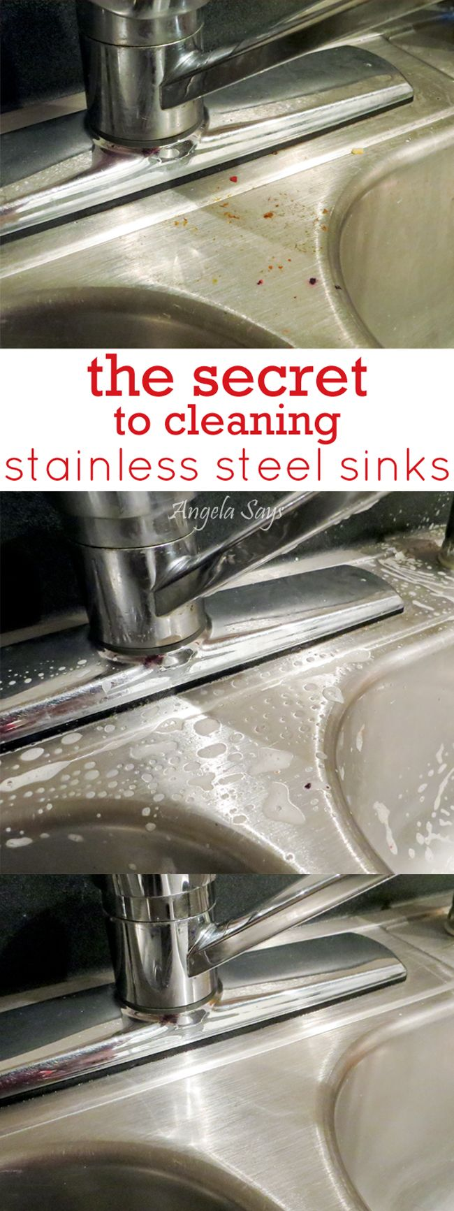 The secret to getting your stainless steel sinks and appliances super shiny