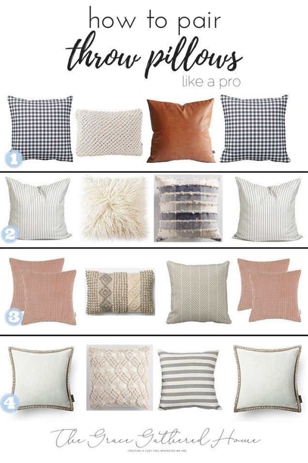 How To Pair Throw Pillows Throw Pillows Living Room Couch Throw