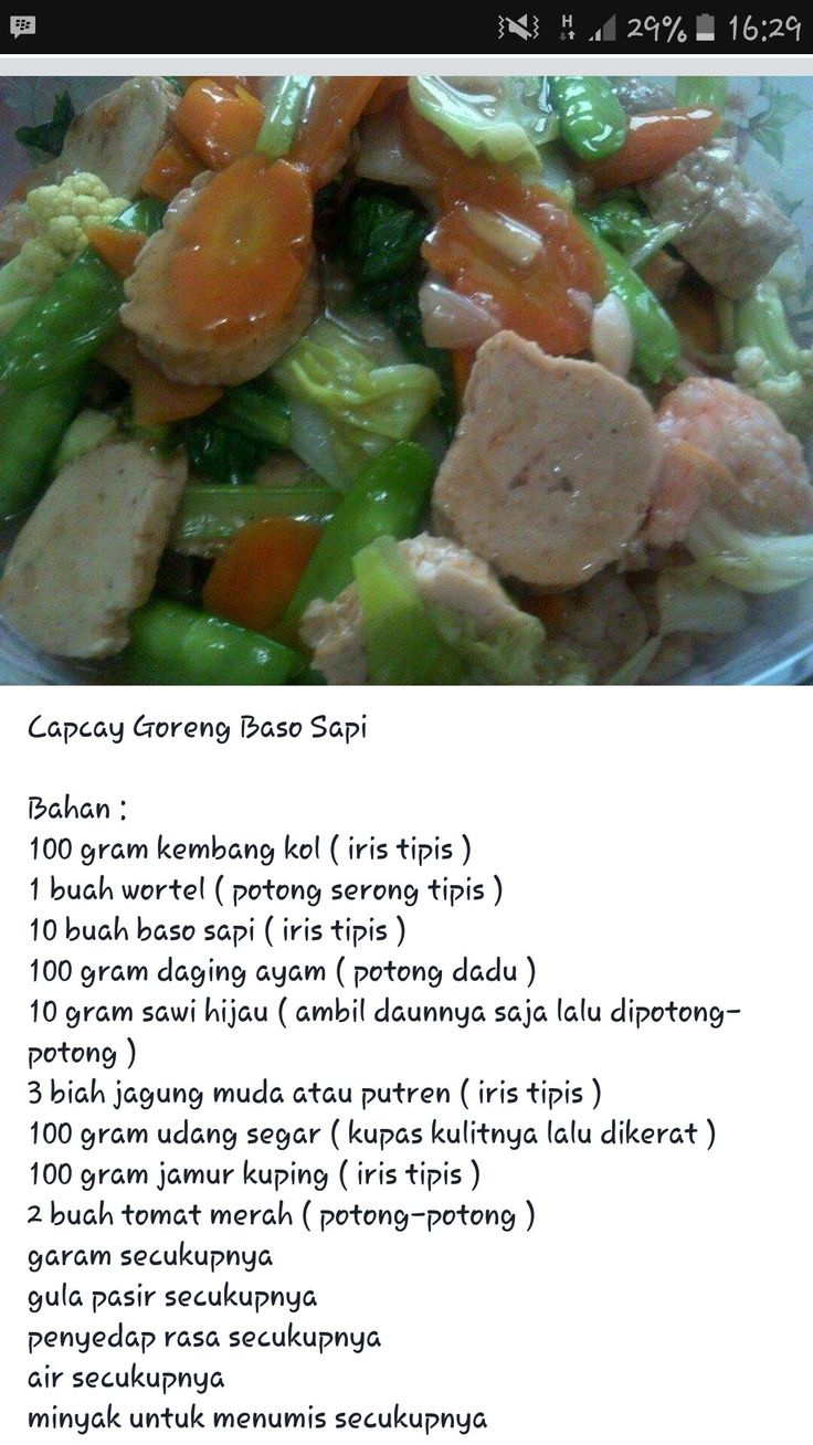 Capcay goreng step 1