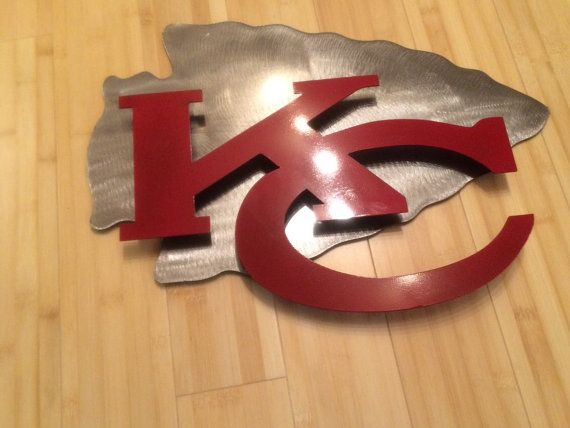 Kansas city Chiefs 2D wall art metal sign by MetalArtDesignz