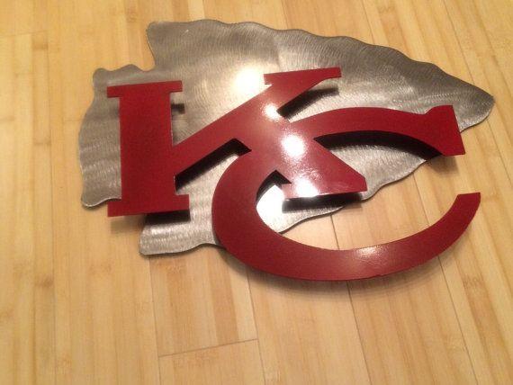 Kansas city Chiefs 2D wall art metal sign by MetalArtDesignz